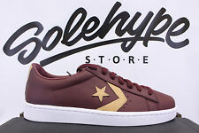 CONVERSE PRO LEATHER 76 TUMBLED LOW TOP PL BURGUNDY BORDEAUX TAN 155665C SZ 9.5