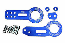 BLUE FRONT AND REAR TOW HOOK SET FOR RACE TRACK CAR - BENEN STYLE - HONDA CIVIC