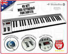 B/NEW MIDI Keyboard Controller 49 Key Pro DJ USB with Software Plug & Play M-49