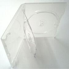 10 X Originale Amaray TRIPLO DVD chiaro caso VASSOIO doppio dorso da 14 mm-confezione da 10