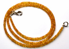 "46 CT.18.5"" NATURAL YELLOW  SAPPHIRE FACETED RONDELLE BEADS NECK 2 TO 2.5 MM AAA"