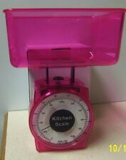 1000G/2.2lb.~Traditional Kitchen Food Diet Scale~Transparent Pink~BRAND NEW!