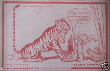 PUBLICITÉ 1919 LES ANIMAUX DE GIBBS - TIGRE - 0 GALOP - ADVERTISING