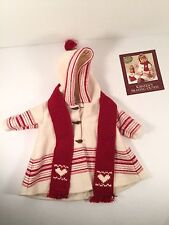 Pleasant Company Kirsten Skating Outfit Retired American Girl Doll Coat Scarf