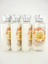 Bath Body Works 4 Warm Vanilla Sugar Shea & Vitamin E Body Lotion 8oz with Aloe