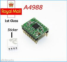 4 pcs A4988 3D Printer Reprap Stepper Motor Driver Green with Heatsink  Arduino