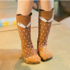 New Baby Childrens Toddlers Fox Knee High Socks Tights Leg Warmer Stockings Gift