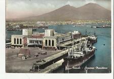 CARTOLINA DI NAPOLI  stazione marittima con grossa nave 73117