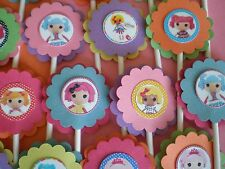 30 LALALOOPSY cupcake toppers Birthday Party Favors, Baby Shower decoration 30