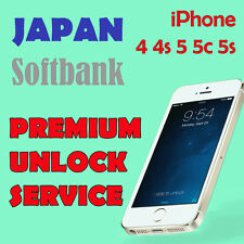 FACTORY UNLOCK PREMIUM SERVICE SOFTBANK JAPAN iPhone 4 4s 5 5c 5s All IMEI OK