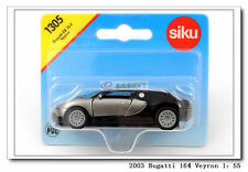 Bugatti Veyron Sports Car Gray, doors open, Diecast Car Model Toys NEW Siku 1305