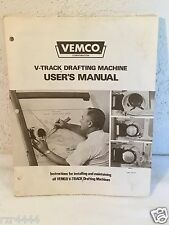 Vemco V-Track Drafting Machine User's Manual Part # 50-500