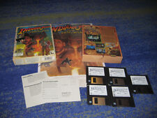 Indiana Jones Fate of Atlantis PC 1992 Lucas Arts Erstausgabe BIG BOX m. Poster