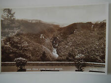 View from Hotel Devils Bridge Ceredigion Wales RP Old Postcard Real Photograph