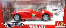 HOT WHEELS 60TH ANNIVERSARY FERRARI 125 S RED CONVERTIBLE L2954