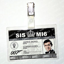 James Bond 007 ID Badge George Lazenby Cosplay Costume Fancy Dress Christmas