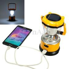 LED Solar Panel Lamp USB Charger Torch Light Flashlight Camping Fishing Lantern