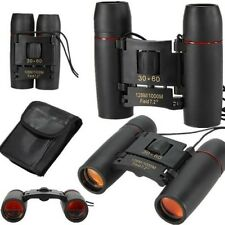 Zoom 30x60 Compact Binoculars Day & Night Vision Telescope Foldable with bag UK