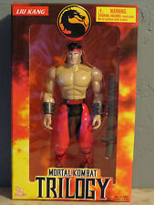"Mortal Kombat Trilogy Liu Kang Super Action Figure Toy Island 10"" Sealed 1998"