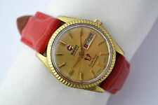 Vintage Rado Purple Horse DayMaster Gold Plated Automatic Mens Watch 957
