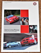2002 VAUXHALL ASTRA LINEA ROSSA Sales Brochure - Coupe & Convertible - Mint