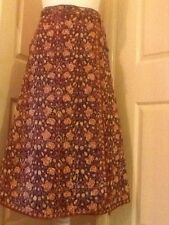 Vintage anokhi Indian 1970 s quilted cotton boho prairie hippie skirt size 12