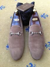 Gucci Mens Shoes Brown Suede Horsebit Loafers UK 11 US 12 EU 45 Made in Italy