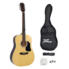 New Pyle PGA20 Professional Full Size Acoustic Guitar Package w/ Accessories