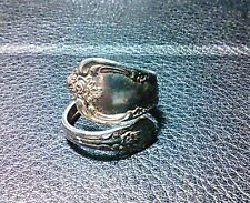 Antique William A Rogers Oneida Ltd. Sterling Silver Spoon Ring - approx Size 6
