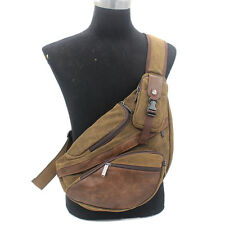 Messenger Shoulder Bag Men Canvas Tactical Travel Hiking Sling Chest Back Pack