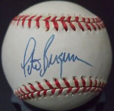 PETER BERGERON MONTREAL EXPOS SIGNED AUTOGRAPHED N.L. BASEBALL W/COA