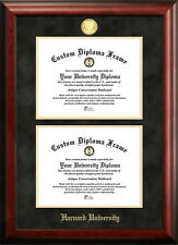 Harvard University Double Degree Diploma Frame