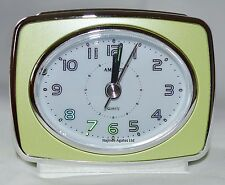 Quartz Retro Amplus Analogue Metallic Lime Battery Beep Alarm Clock Light PT 160