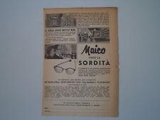 advertising Pubblicità 1956 OCCHIALI ACUSTICI MAICO