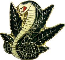 47065 Cobra Snake Pot Leaf Weed Hemp Stoner MJ Enamel Pin Badge Button Lapel