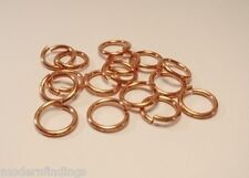 20GA O/D 5 MM  520 PCS. 1 OZ  GENUINE SOLID COPPER OPEN ROUND JUMP RING