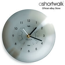 ashortwalk Stainless Steel Time & Tide Clock - Brushed Stainless Steel