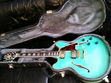 D'Angelico Ex-DC NEW Sea Green Blue Electric Guitar Semi-Hollow body w Case