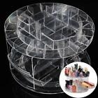 Clear 360° Rotating Cosmetic Organizer Round Makeup Box Brush Polish Holder Rack