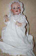 "Antique German #13 JDK KESTNER  Baby Doll 17"" BISQUE Blue eyes teeth"