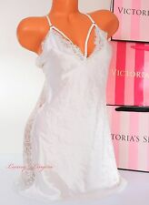 NWD VICTORIA'S SECRET Lingerie VS Slip Slick Lace Bridal Babydoll L White Jewel
