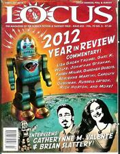 LOCUS #625, 2/13, rare US sci-fi mag, survey, Brian Slattery, news, new books