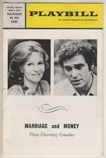 """Geraldine Page & Rip Torn Playbill 1971 """"Marriage and Money"""" (3 Comedies) Philly"""