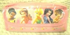 TINKERBELL AND FAIRIES PINK PENCIL CASE CARRYING CASE-BRAND NEW WITH TAGS!