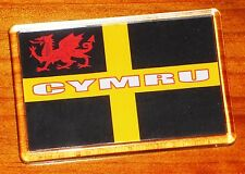 Cymru Wales Cross of St David y ddraig goch red dragon flag fridge magnet
