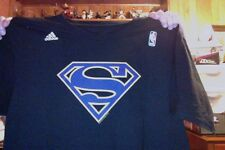 DWIGHT HOWARD SUPERMAN T SHIRT ADIDAS LARGE  2 SIDED FROM NBA STORE RETAIL 26.00