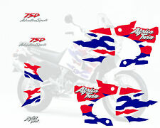 Africa twin 750 (1996 blanche) autocollant sticker decal aufkleber moto