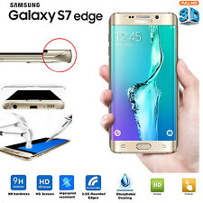 Gold Curved 3D Tempered Glass Screen Protector cover For Samsung Galaxy S7 Edge