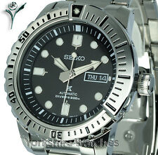 New SEIKO PROSPEX AIR DIVERS BLACK FACE WITH STAINLESS STEEL BRACELET SRP585K1