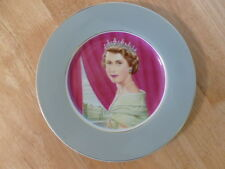 Queen Elizabeth II Coronation Plate 1953 Painted By Allen Hughes